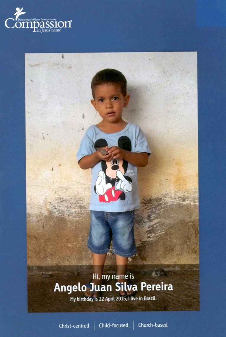 Angelo from Brazil is just one of the many children for sponsorship at the Child Sponsorship Program