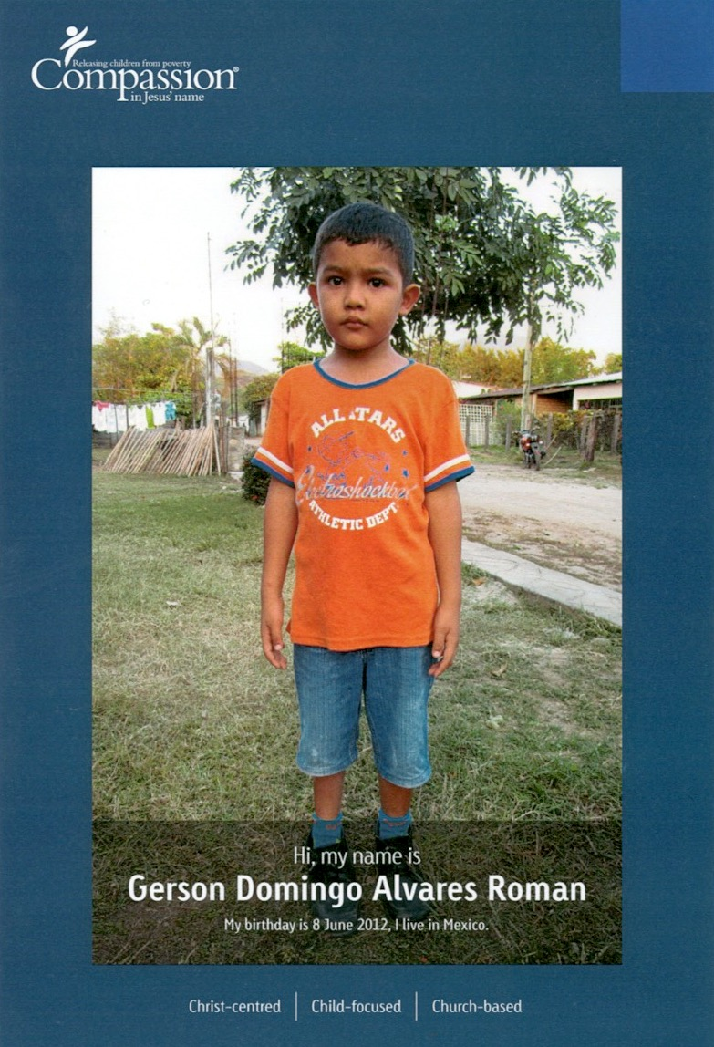 Gerson from Mexico is just one of the many children for sponsorship at the Child Sponsorship Program