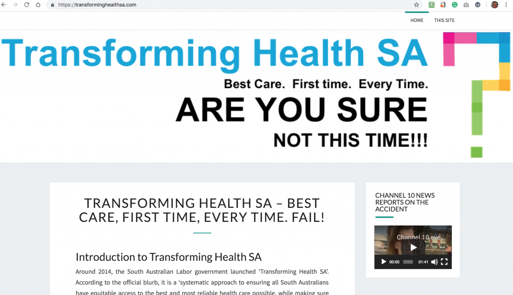 visiting this site to read about the bullying by SA Health - stop bullying