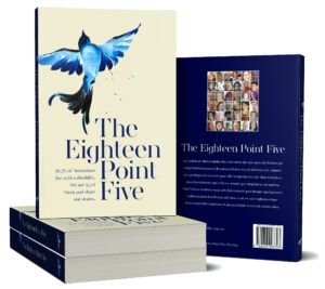 4 books. 1 standing up and on 1, 1 showing back cover. Front has a beautiful blue bird