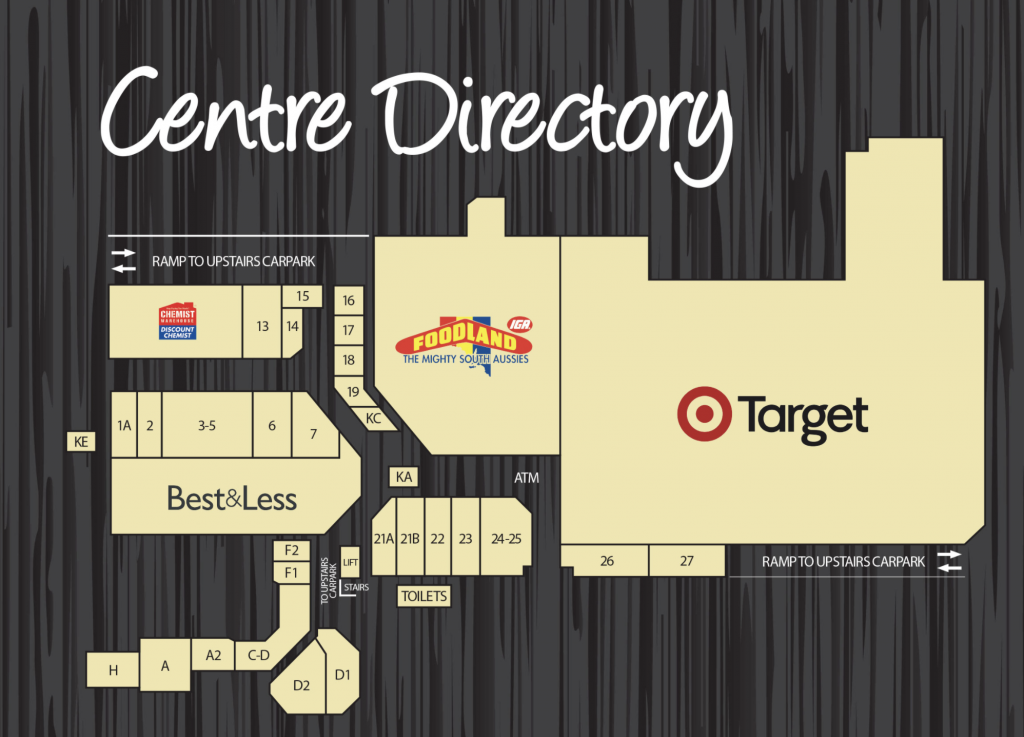 a map showing the location of the shops - Sefton Plaza Accessibility
